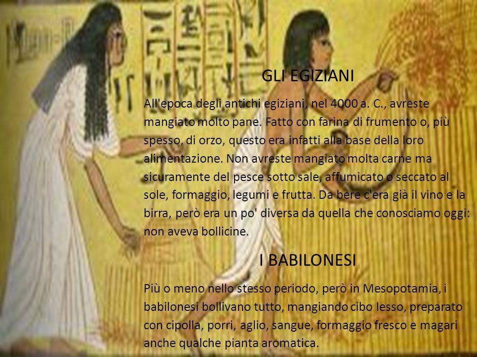 GLI EGIZIANI I BABILONESI