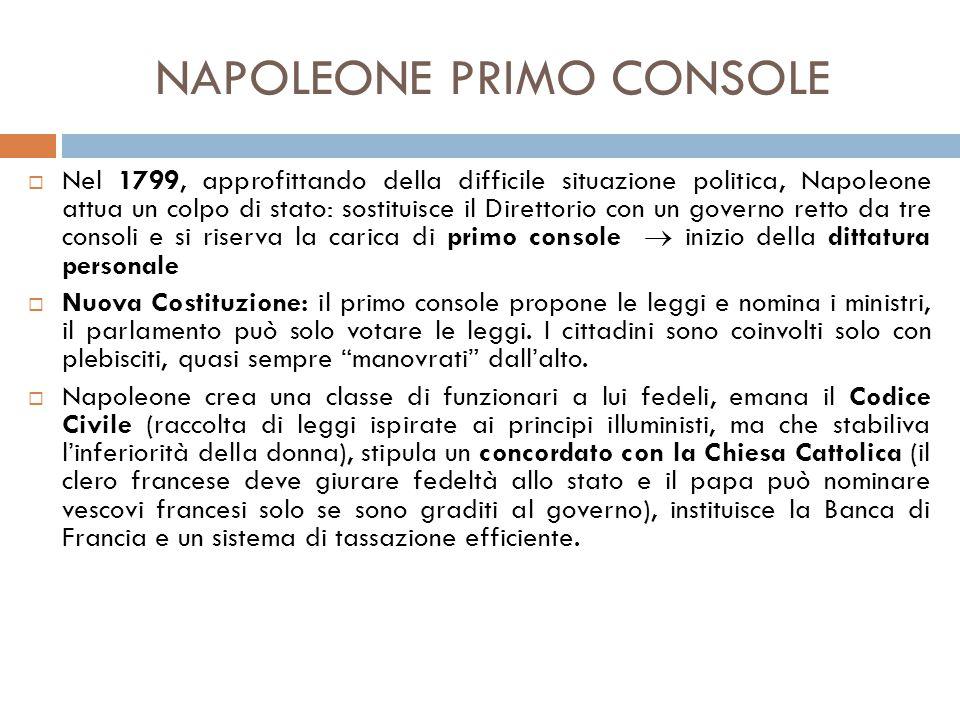 NAPOLEONE PRIMO CONSOLE