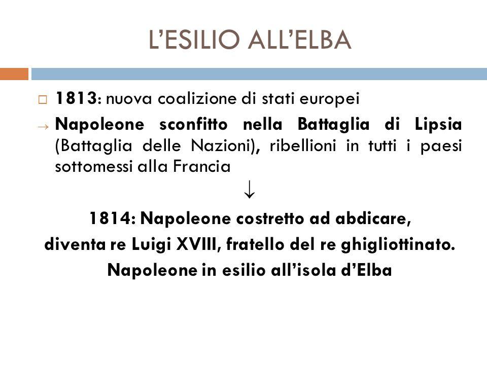 L'ESILIO ALL'ELBA 1813: nuova coalizione di stati europei