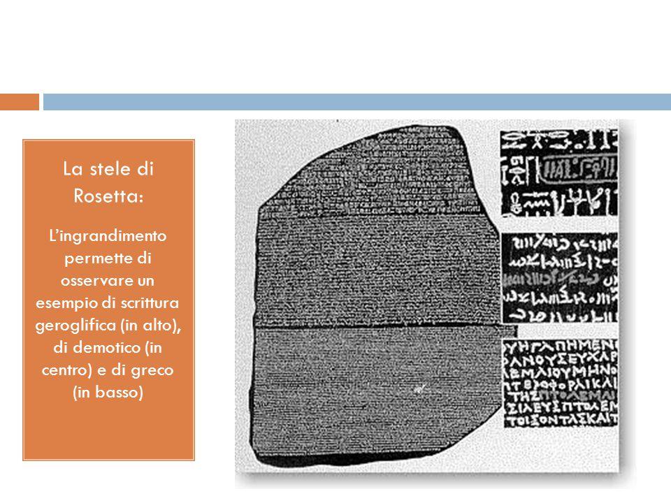 La stele di Rosetta: