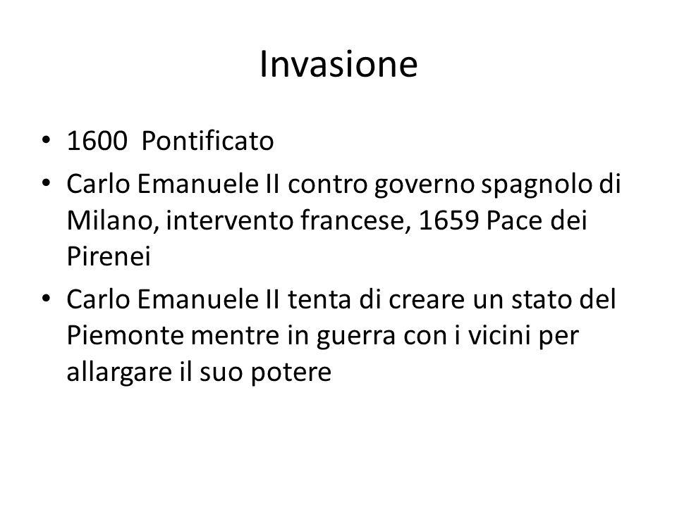 Invasione 1600 Pontificato