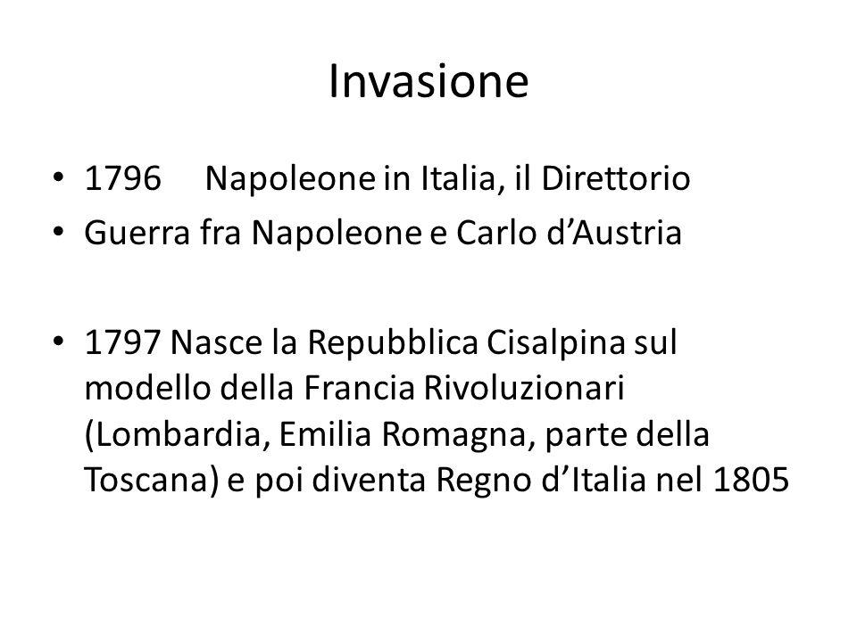 Invasione 1796 Napoleone in Italia, il Direttorio