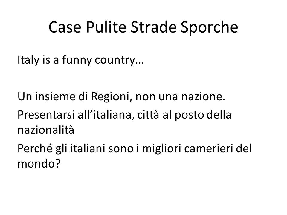 Case Pulite Strade Sporche