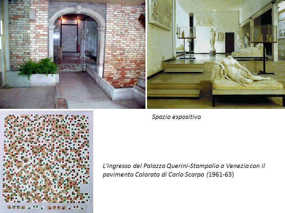 Spazio espositivo L ingresso del Palazzo Querini-Stampalia a Venezia con il pavimento Colorato di Carlo Scarpa (1961-63)