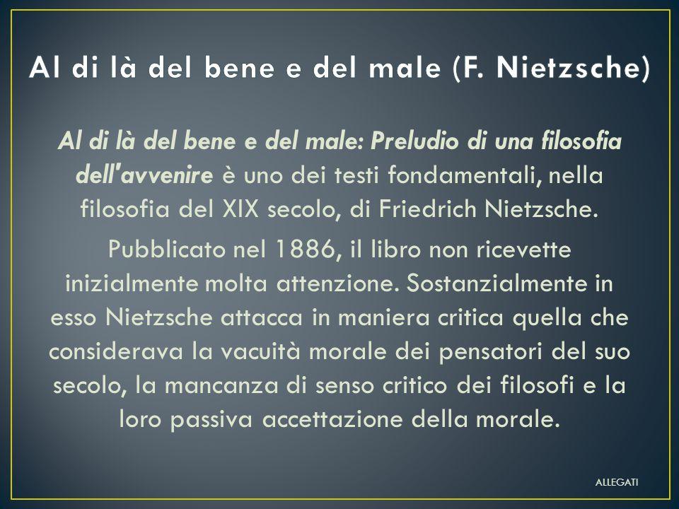 Al di là del bene e del male (F. Nietzsche)