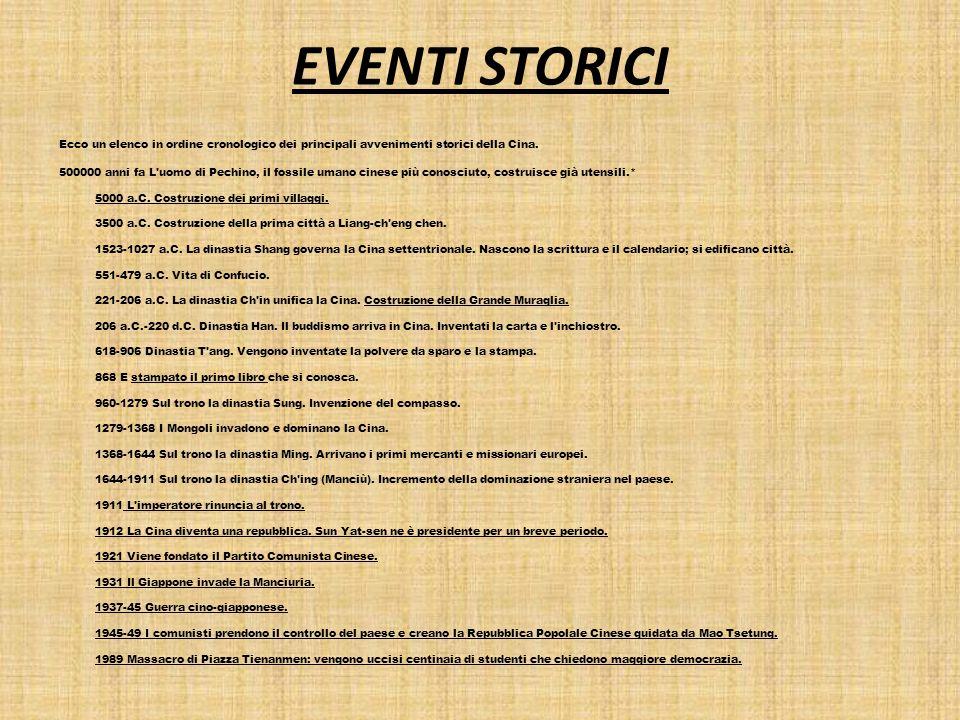 EVENTI STORICI