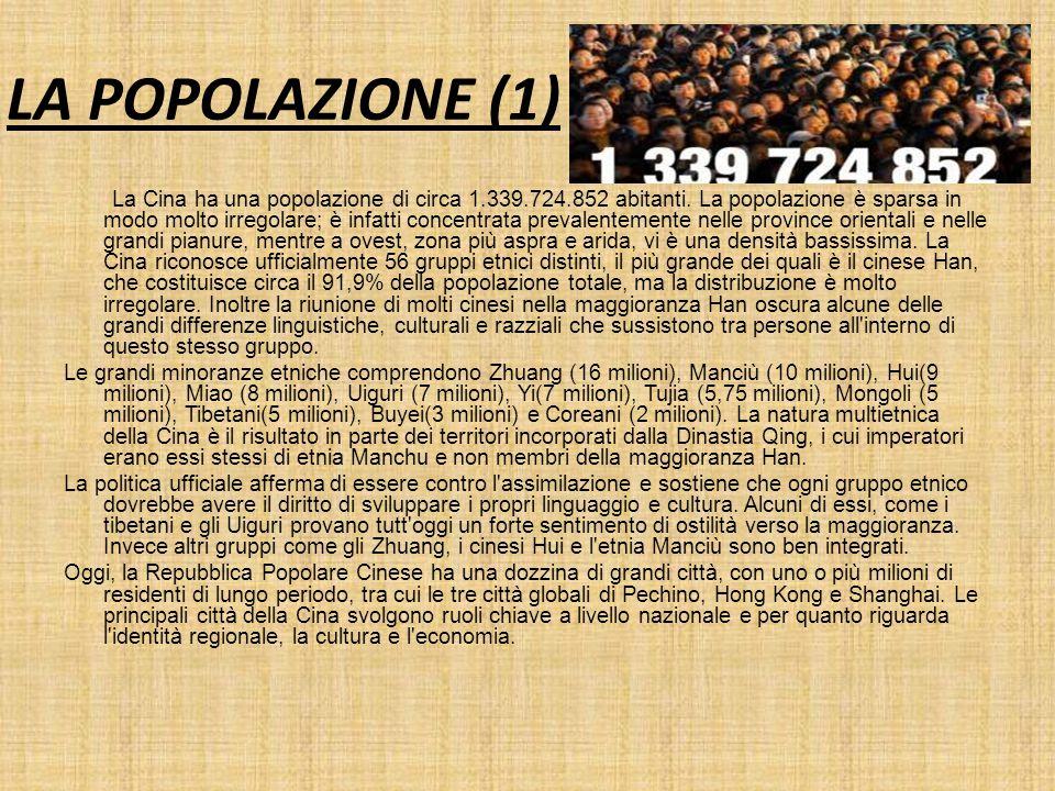 LA POPOLAZIONE (1)