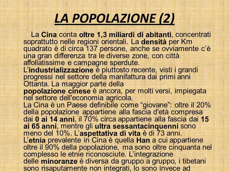 LA POPOLAZIONE (2)