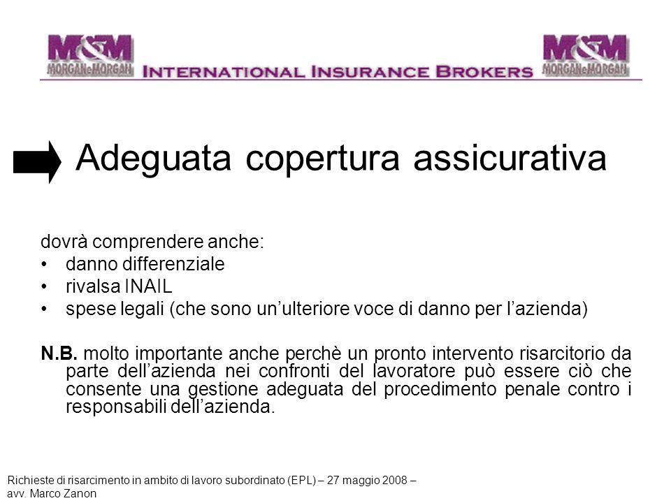Adeguata copertura assicurativa