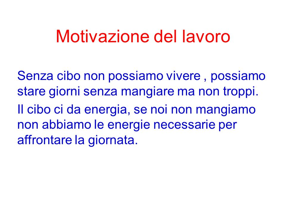 Motivazione del lavoro