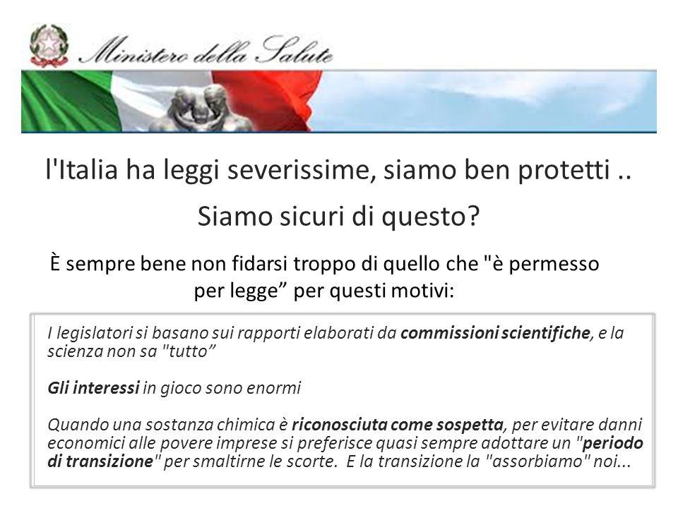 l Italia ha leggi severissime, siamo ben protetti