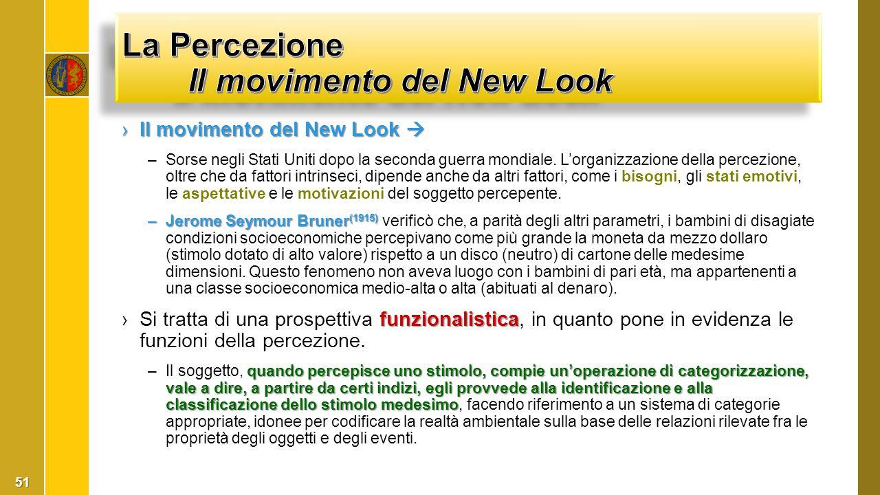 La Percezione Il movimento del New Look