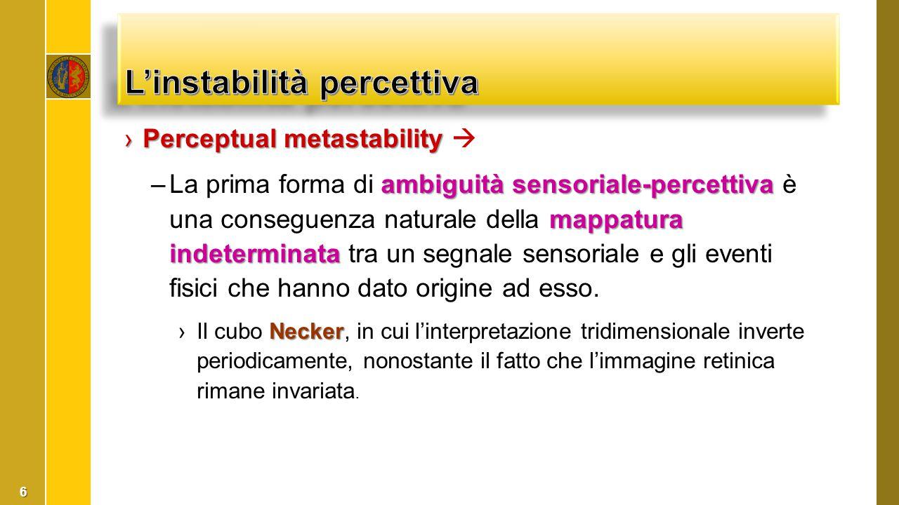 L'instabilità percettiva