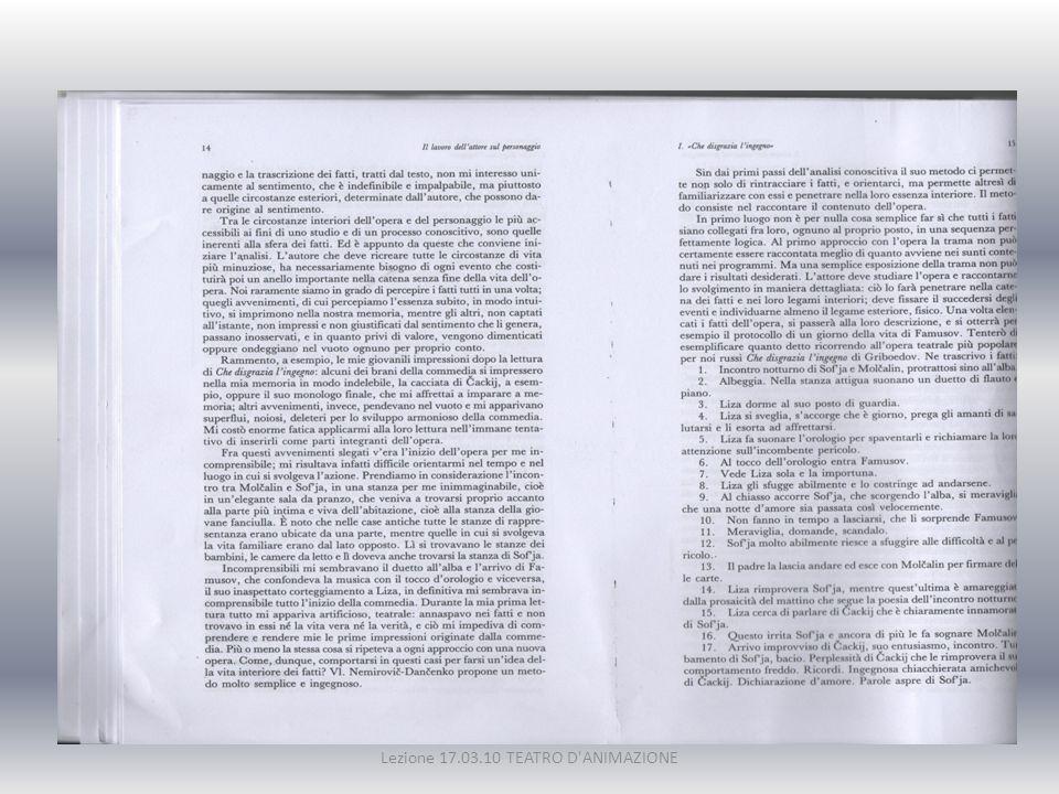 Lezione 17.03.10 TEATRO D ANIMAZIONE