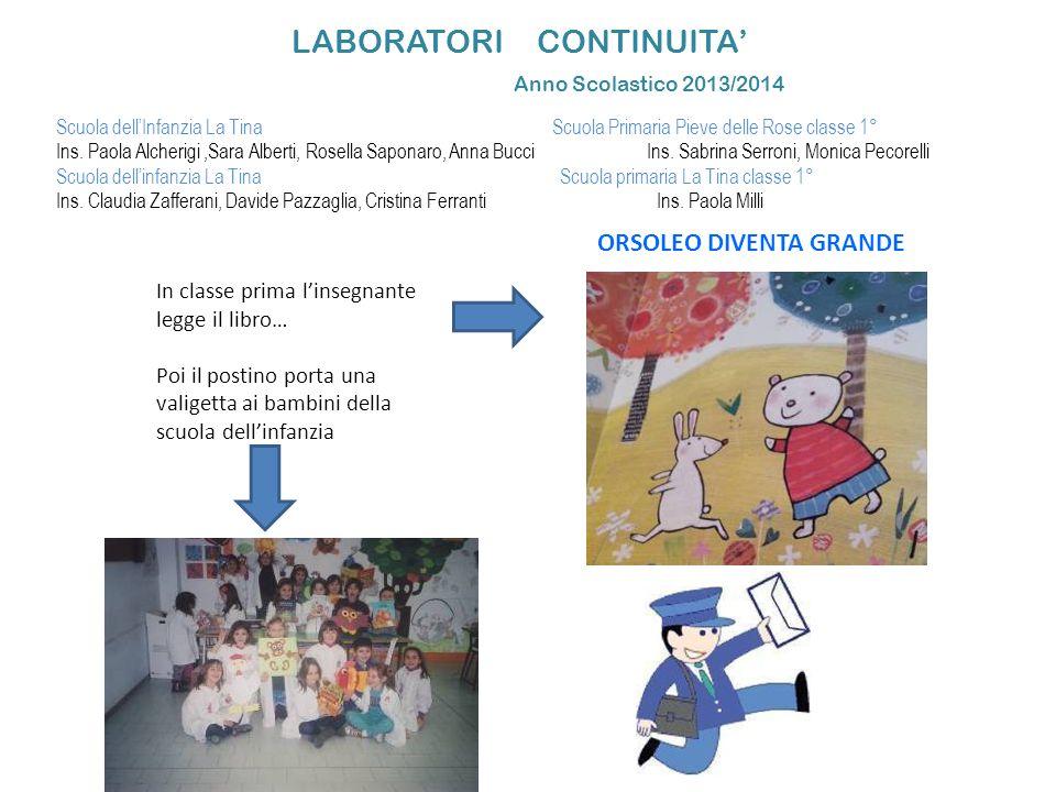 LABORATORI CONTINUITA' Anno Scolastico 2013/2014
