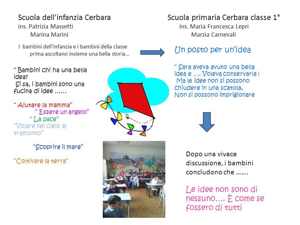 Scuola dell'infanzia Cerbara Scuola primaria Cerbara classe 1° ins