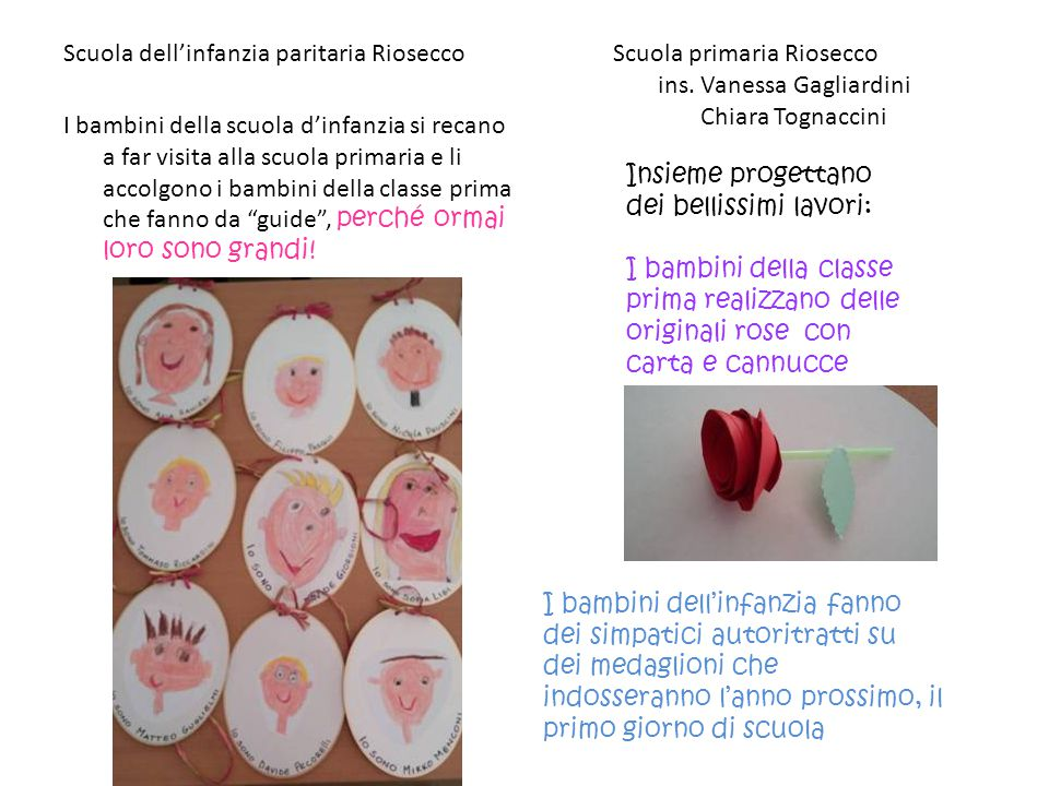Scuola dell'infanzia paritaria Riosecco Scuola primaria Riosecco ins