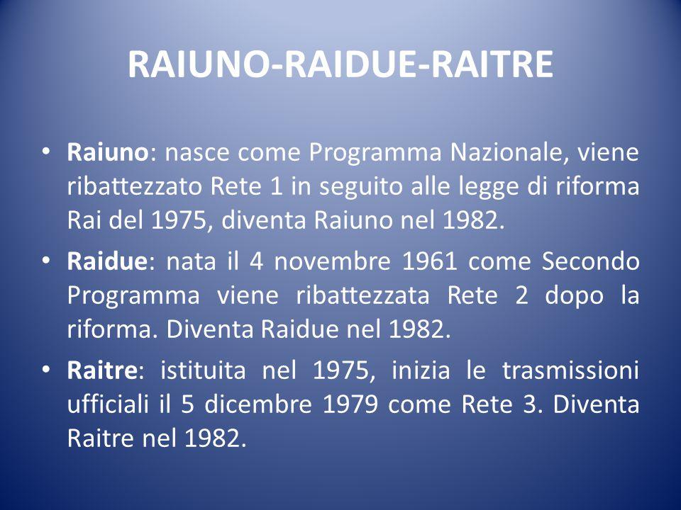 RAIUNO-RAIDUE-RAITRE