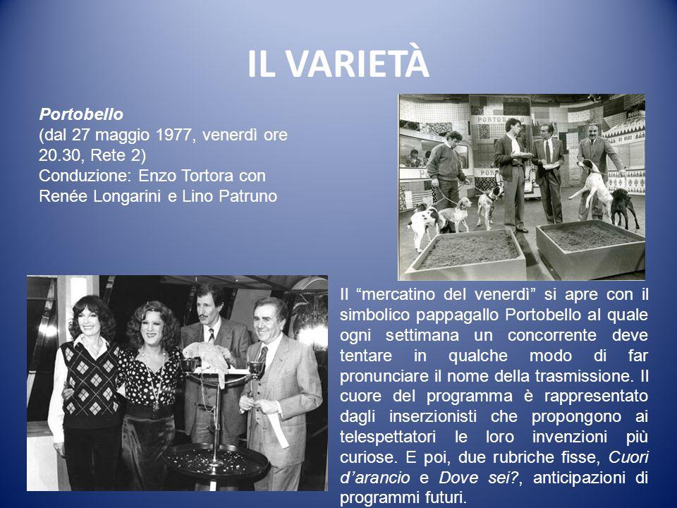 IL VARIETÀ Portobello (dal 27 maggio 1977, venerdì ore 20.30, Rete 2)