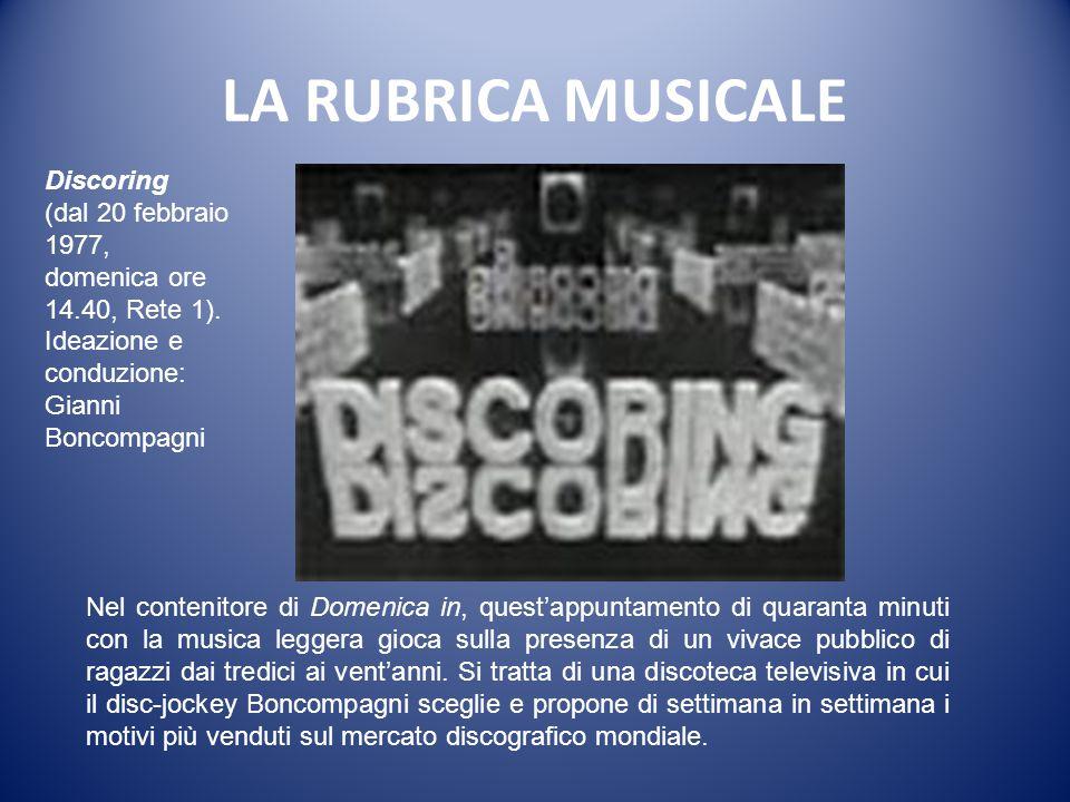 LA RUBRICA MUSICALE Discoring