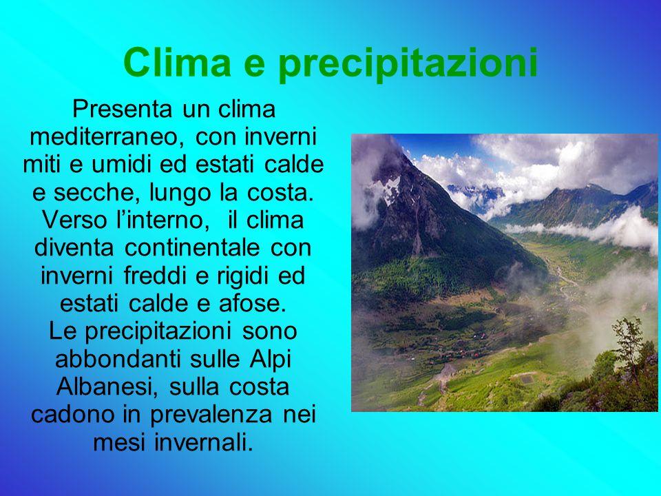 Clima e precipitazioni