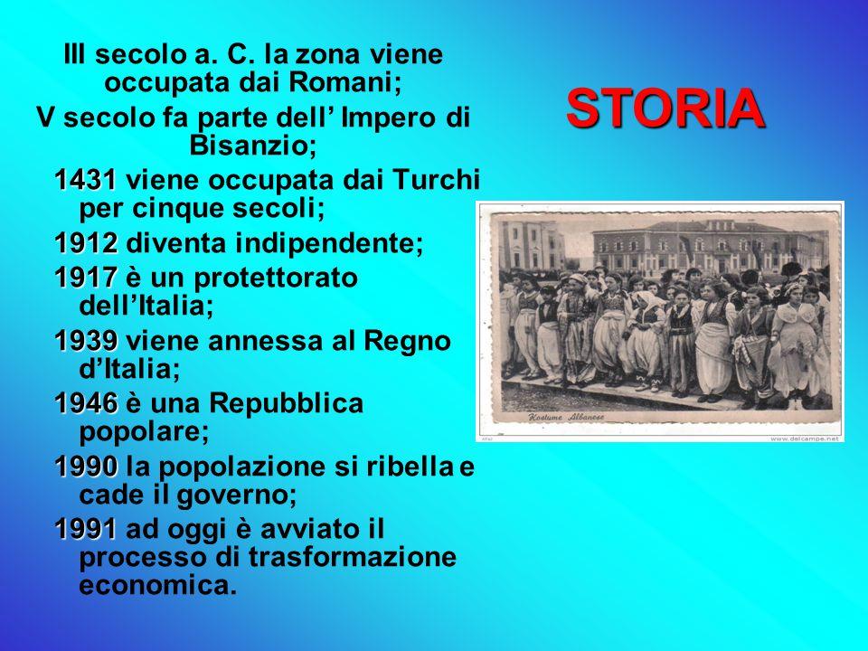 STORIA III secolo a. C. la zona viene occupata dai Romani;