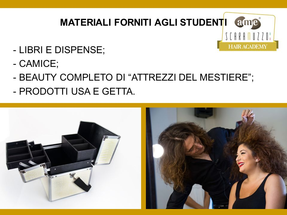 MATERIALI FORNITI AGLI STUDENTI