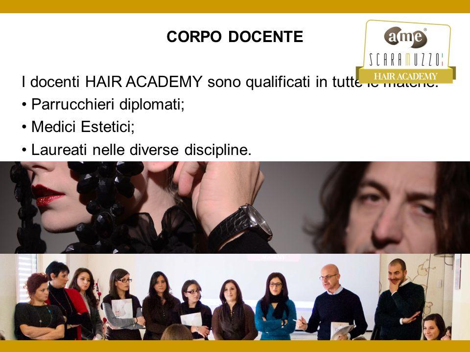 CORPO DOCENTE I docenti HAIR ACADEMY sono qualificati in tutte le materie: • Parrucchieri diplomati;
