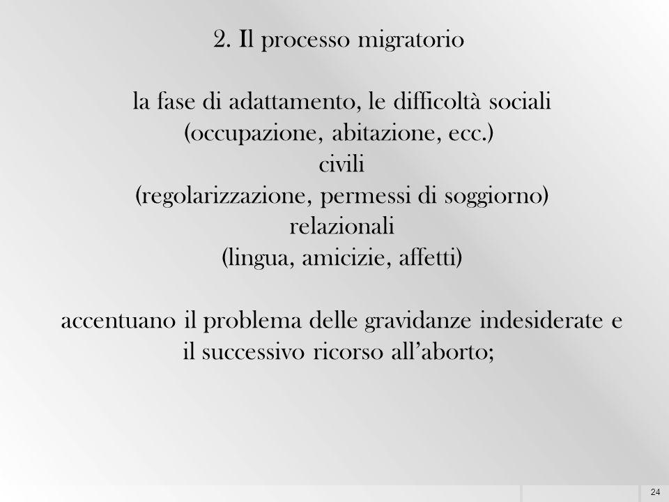 2. Il processo migratorio