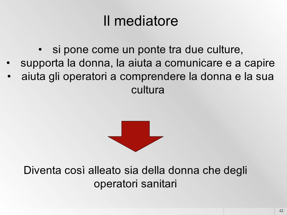 Il mediatore si pone come un ponte tra due culture,