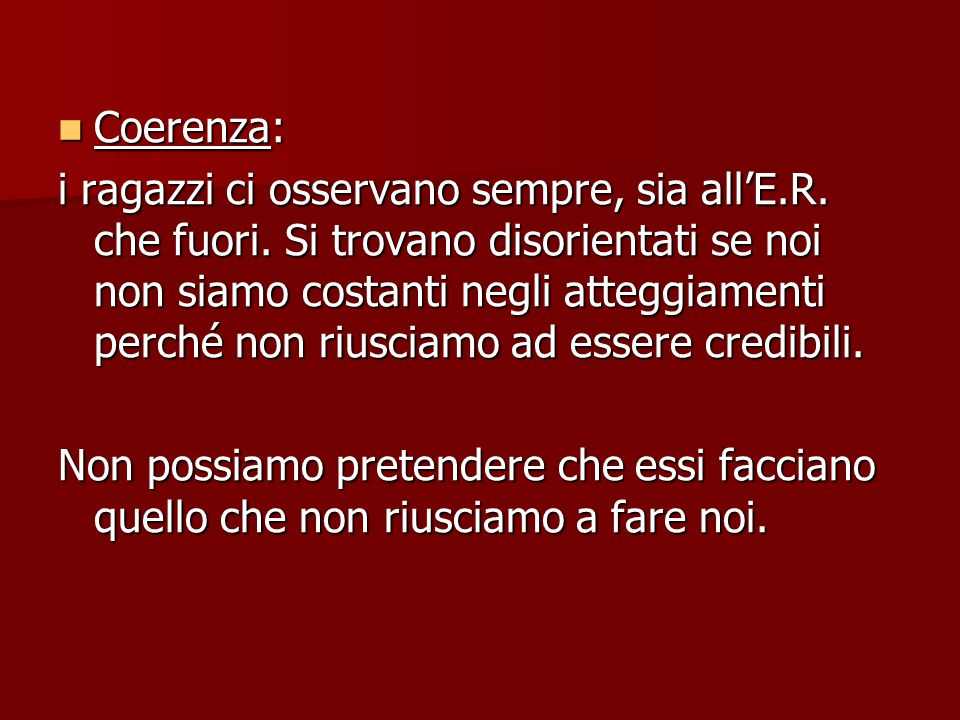 Coerenza: