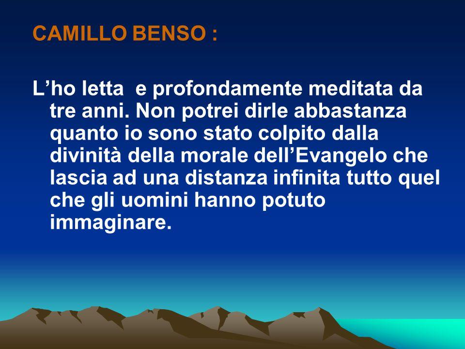 CAMILLO BENSO :