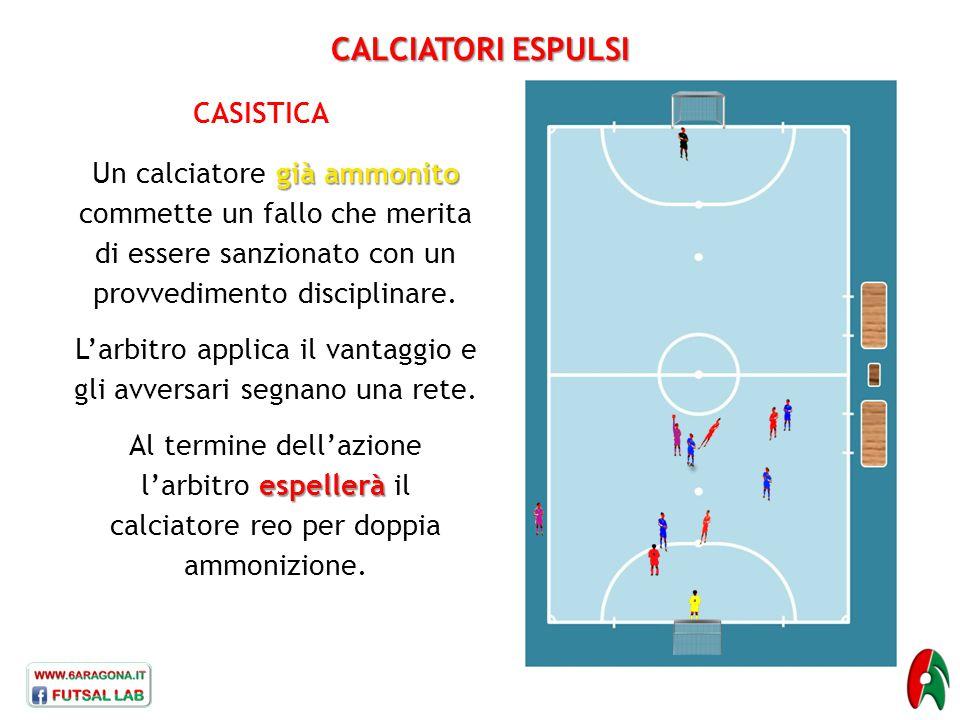 L'arbitro applica il vantaggio e gli avversari segnano una rete.