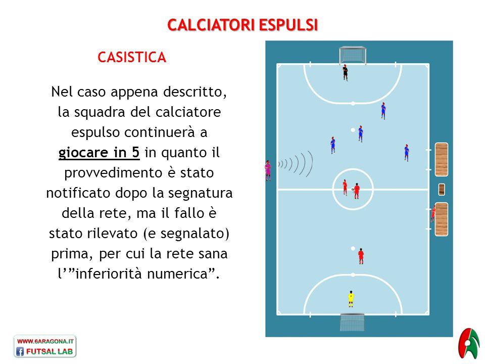 CALCIATORI ESPULSI CASISTICA