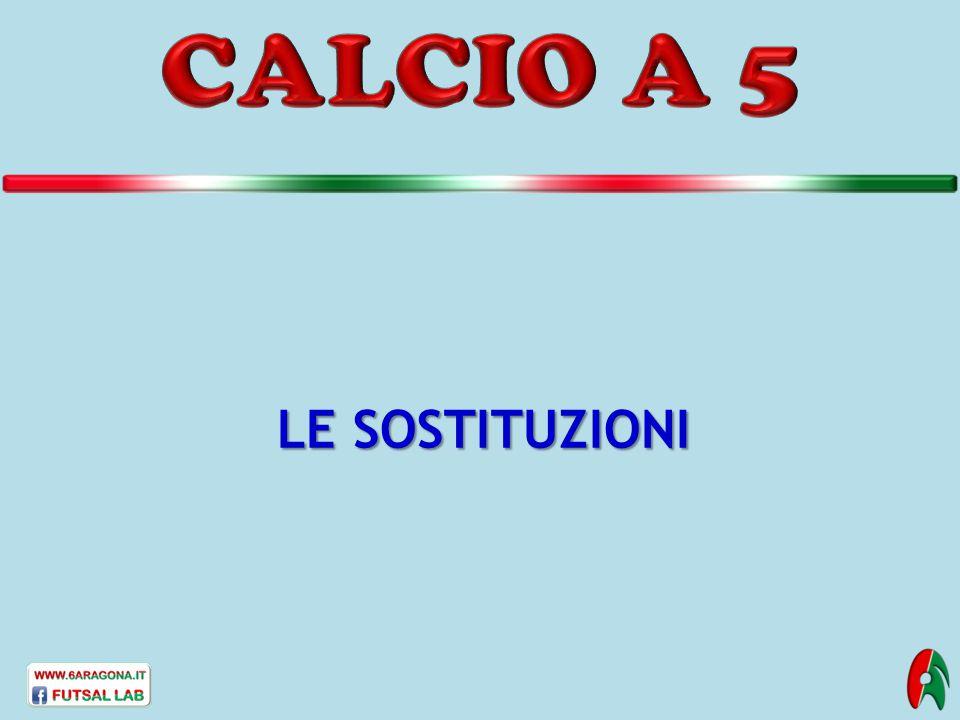 CALCIO A 5 LE SOSTITUZIONI