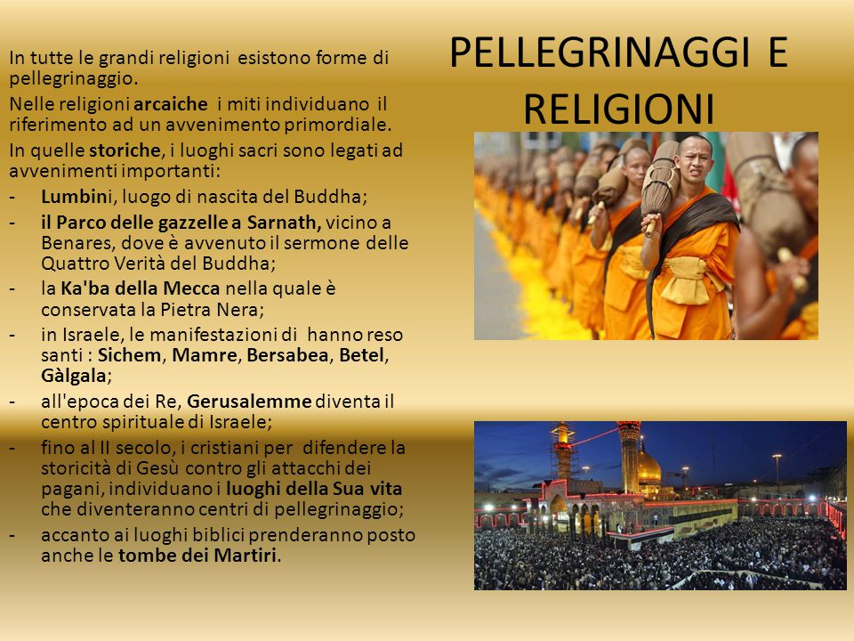 PELLEGRINAGGI E RELIGIONI