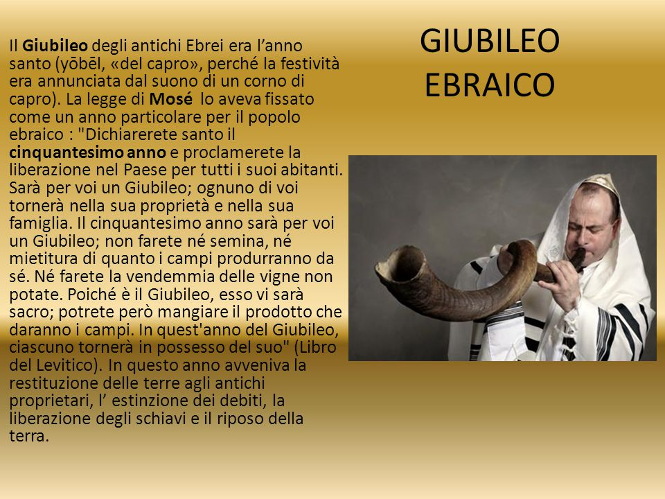 GIUBILEO EBRAICO