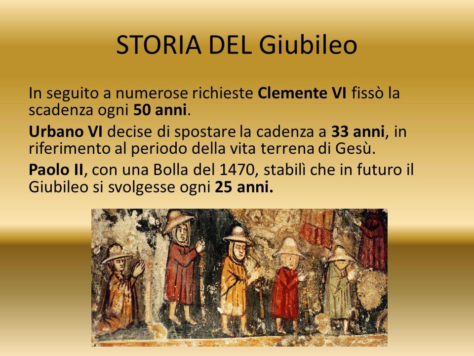 STORIA DEL Giubileo
