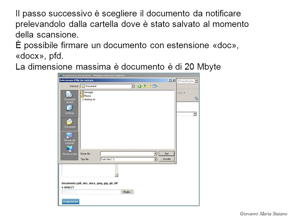 È possibile firmare un documento con estensione «doc», «docx», pfd.