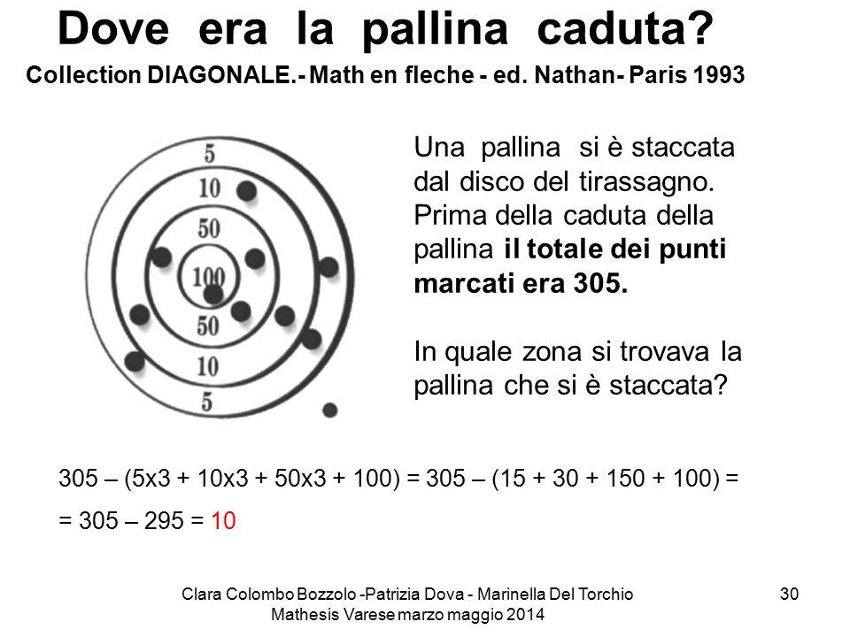 Dove era la pallina caduta Collection DIAGONALE.- Math en fleche - ed. Nathan- Paris 1993