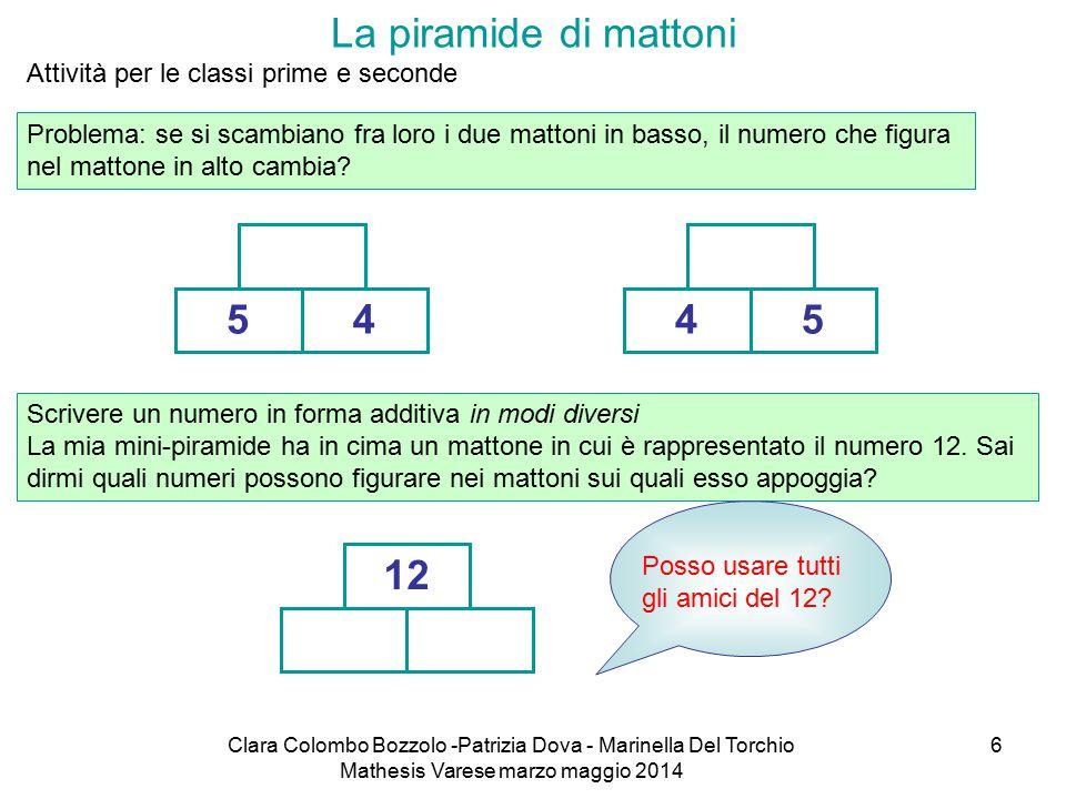 La piramide di mattoni Attività per le classi prime e seconde.