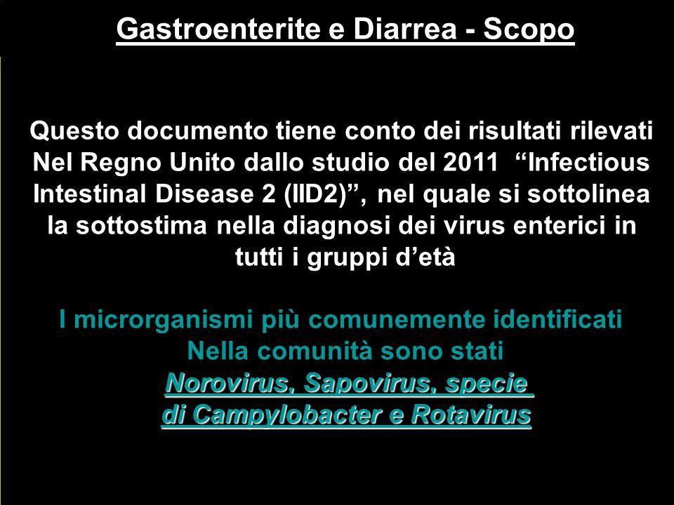 Gastroenterite e Diarrea - Scopo