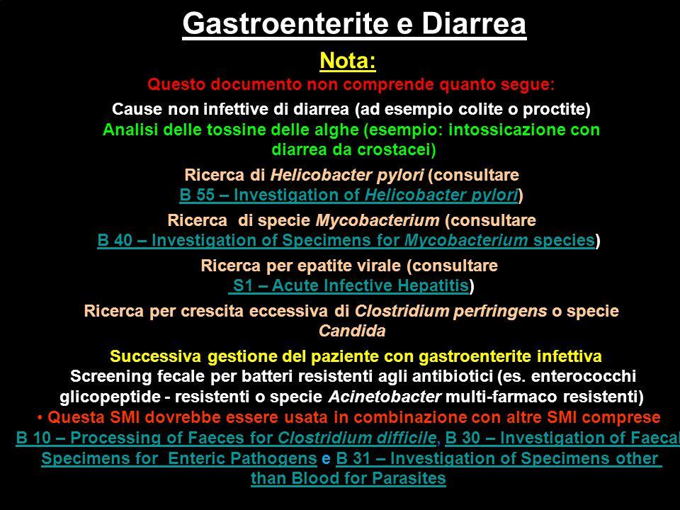 Gastroenterite e Diarrea' Gastroenterite e Diarrea