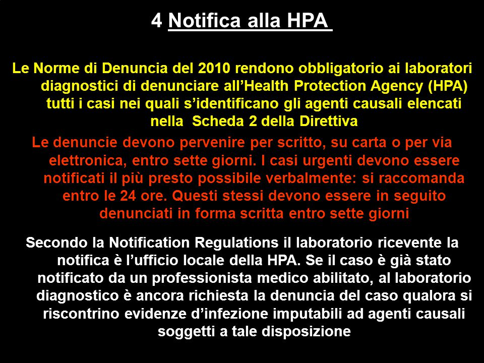 4 Notifica alla HPA