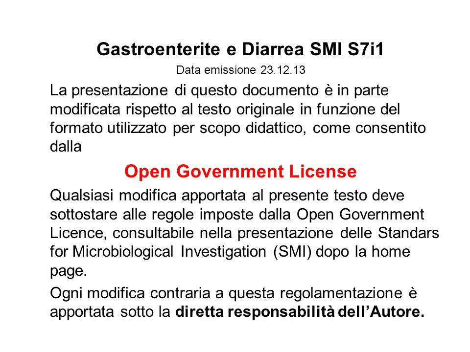 Gastroenterite e Diarrea SMI S7i1 Open Government License