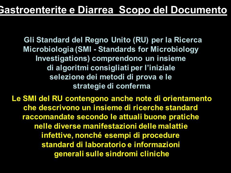Gastroenterite e Diarrea Scopo del Documento