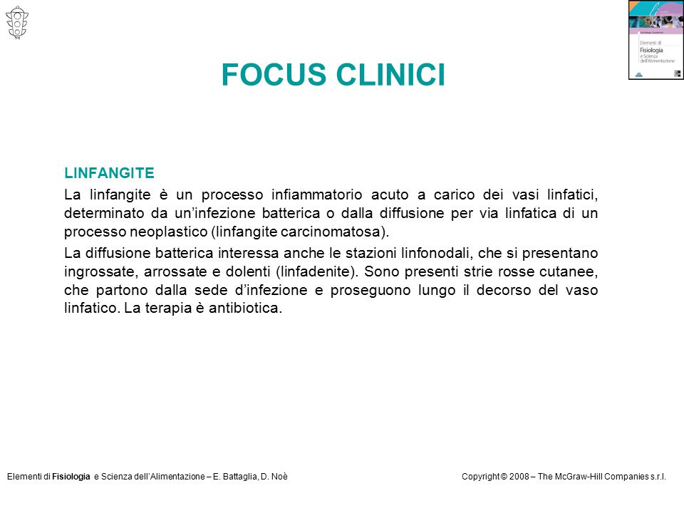 FOCUS CLINICI LINFANGITE