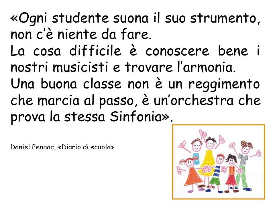 «Ogni studente suona il suo strumento, non c'è niente da fare.