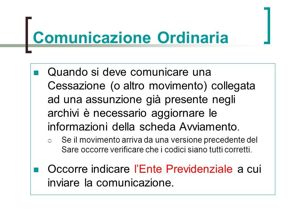 Comunicazione Ordinaria