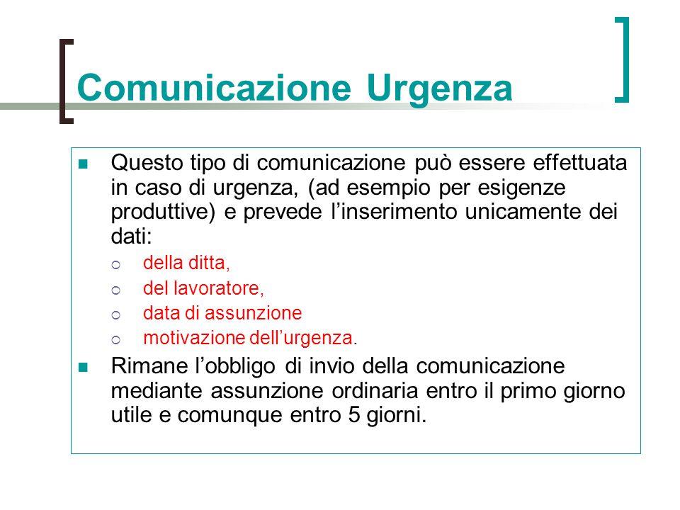 Comunicazione Urgenza